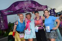 Kimberly, Gail, Rebecca, and Pam at the finish of the 2014 Enchanted 10K