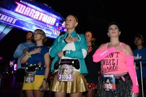 2014 Walt Disney World Full Marathon: Kimberly's first full marathon after finishing chemotherapy for great cancer 2 weeks prior.