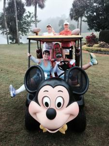 Golf cart full of crazy during the 2014 Walt Disney World Princess Half Marathon.
