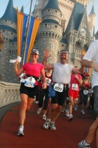 Perfect Goofy Gail during her first Walt Disney World Marathon in 2006.