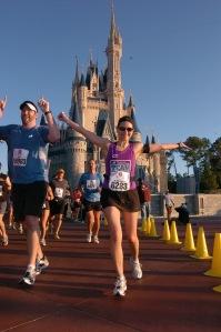 Kimberly during her first Walt Disney World Marathon in