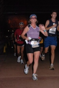2008 Walt Disney World Goofy Challenge. This was a VERY hot year and, as a result, I signed up in 2009 for the Inaugural Race Retreat.