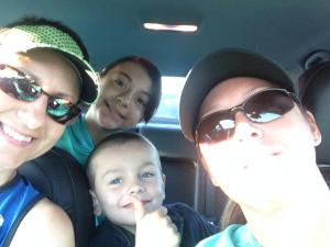 Early morning car selfies with the Markey Family on the way to the Cedar Point Millennium Force 5K