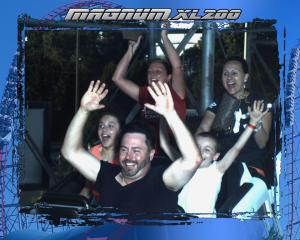 The entire Markey Family and Perfect Goofy Gail screaming through the Magum XL-200.