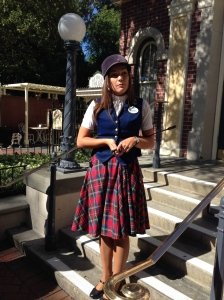 Our Tour Guide was ADORABLE.  And how cute are the costumes?!?!
