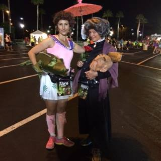 "2014 Twilight Zone Tower of Terror 10 Miler.  We'd been ""dying"" to dress as the Haunted Mansion Stretching Room Portraits..."
