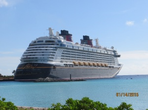 Disney Dream in port at Castaway Cay