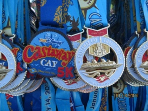 Both the Castaway Cay 5K medallion and Challenge Medal