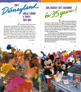 Disneyland 35th Anniversary Park Map Detail