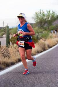 I live in Arizona.  This race started at 5:05 am.  It was already 85 degrees out. This is the face of a happy Rocket Pure user and a runner WITHOUT monkey butt!