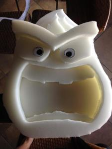 Inside Out - Anger Head In-Process