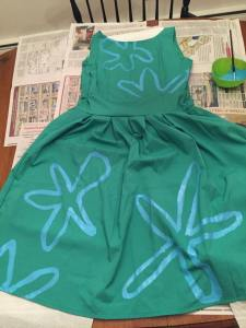Inside Out: Disgust Dress In-Process